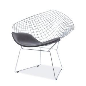 Stolička s oceľovou konštrukciou a sedadlom z eko kože Signal Remo