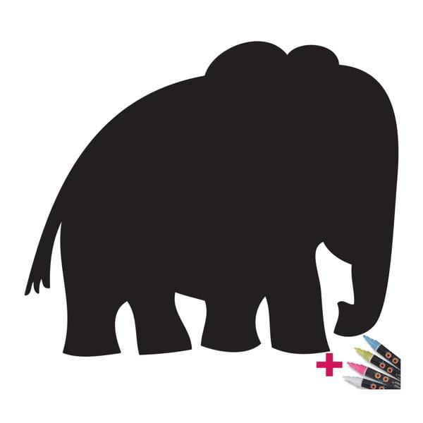 Set popisovateľnej samolepky a 4 fixiek Ambience Elephant