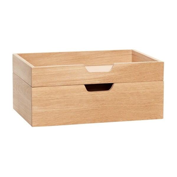 Dvojdielny drevený úložný box Hübsch Ansgar