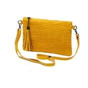 Žltá kabelka z pravej kože Andrea Cardone Michele