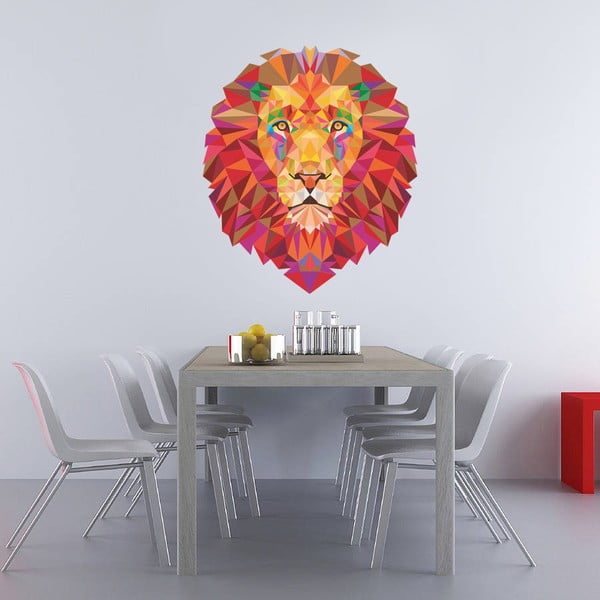 Samolepka na stenu  Lion, 120x90 cm