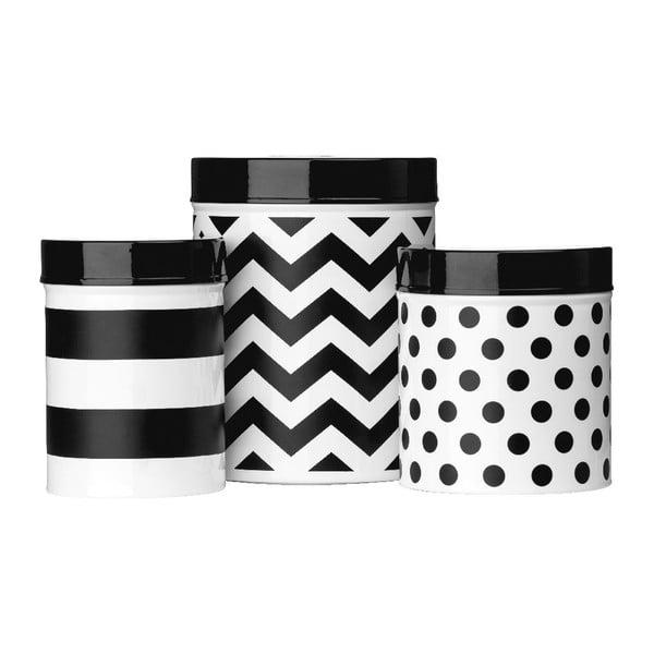 Sada 3 boxov Premier Housewares Domino BW