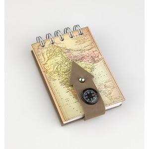 Poznámkový bloček Thinking gifts Compass Notes India