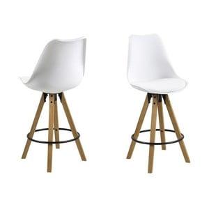 Biela jedálenská stolička Actona Dima