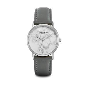 Dámske hodinky so sivým koženým remienkom a ciferníkom v striebornej farbe Eastside Rosevelt