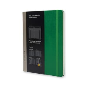 Zápisník Moleskine Pro Green, extra veľký