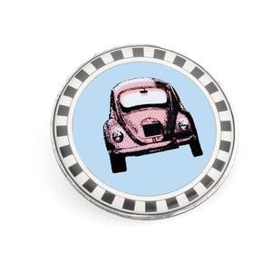 Brošňa Ružové autíčko v modrej zóne od Lucie Markovej