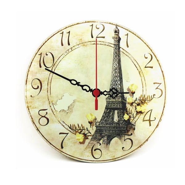 Nástenné hodiny Eiffel Tower, 30 cm