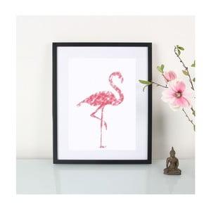 Plagát Crayon Flamingo, A3