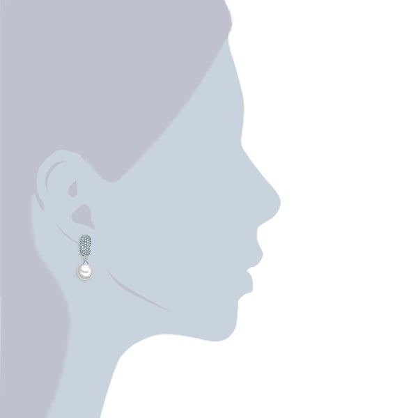 Perlové náušnice Sid, perla 10 mm