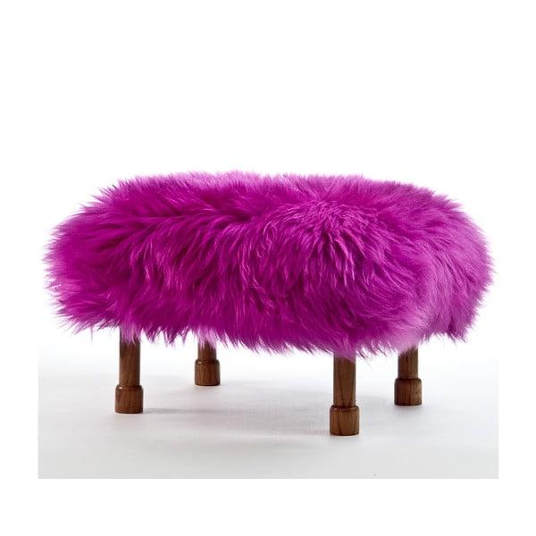 Stolička z ovčej kože Delyth Cerise
