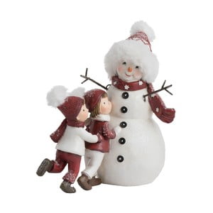 Dekoratívna vianočná soška J-Line Snowmen