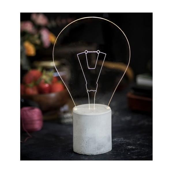 Náladové svetlo Bulb, sivý podstavec