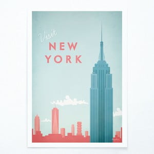Plagát Travelposter New York, A3
