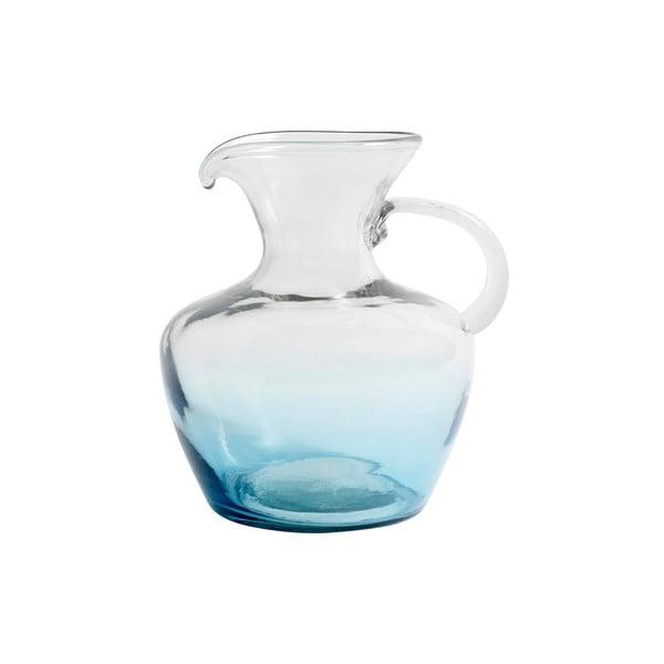 Modrá sklenená karafa Nordal Mexican Bubble