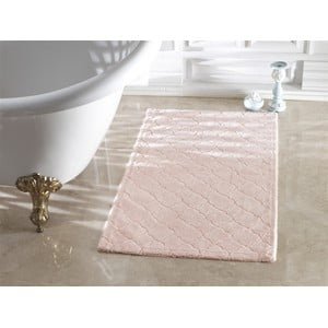 Ružová kúpeľňová predložka Confetti Bathmats Arven Powder, 40 x 60 cm