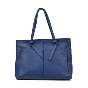 Modrá kožená kabelka Anna Luchini Layo