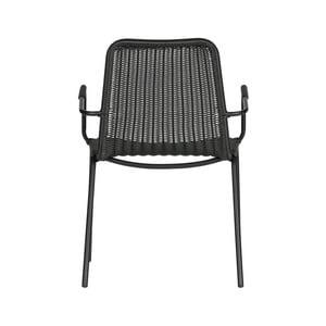 Čierna jedálenská stolička WOOOD Wander