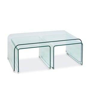 Sklenený konferenčný stolík Priam