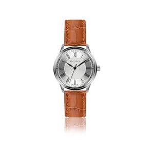 Pánske hodinky s hnedým remienkom z pravej kože Walter Bach Sunny