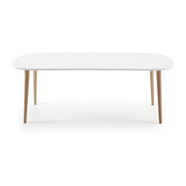 Biely rozkladací jedálenský stôl La Forma Oakland, 160-260 cm
