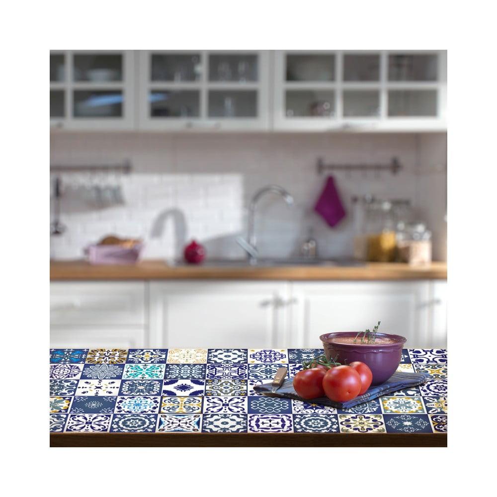 Sada 30 samolepiek na nábytok Ambiance Tiles Stickers For Furniture Lubina, 15 × 15 cm