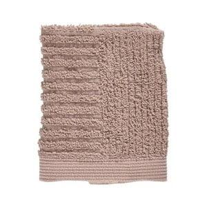 Béžový uterák zo 100% bavlny na tvár Zone Classic, 30×30 cm