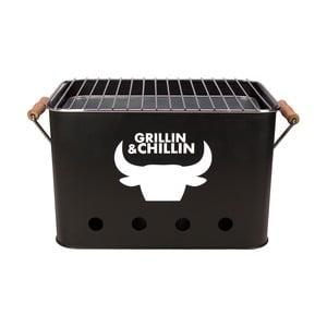 Mini gril prenosný Grillin&Chillin, čierny