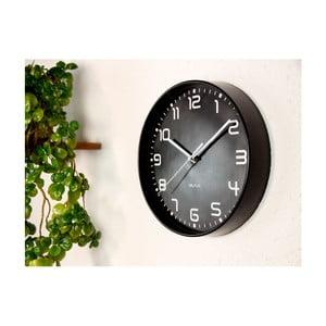 Čierne nástenné hodiny Walplus ChicTime, ⌀ 25 cm