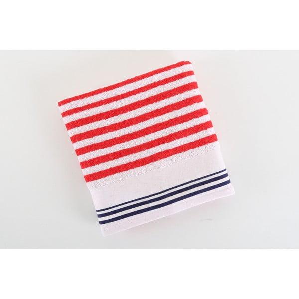 Červeno-biely bavlnený uterák BHPC Cotton, 50x100 cm