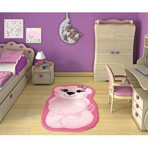 Detský koberec Pretty Bear Pink, 80x127 cm