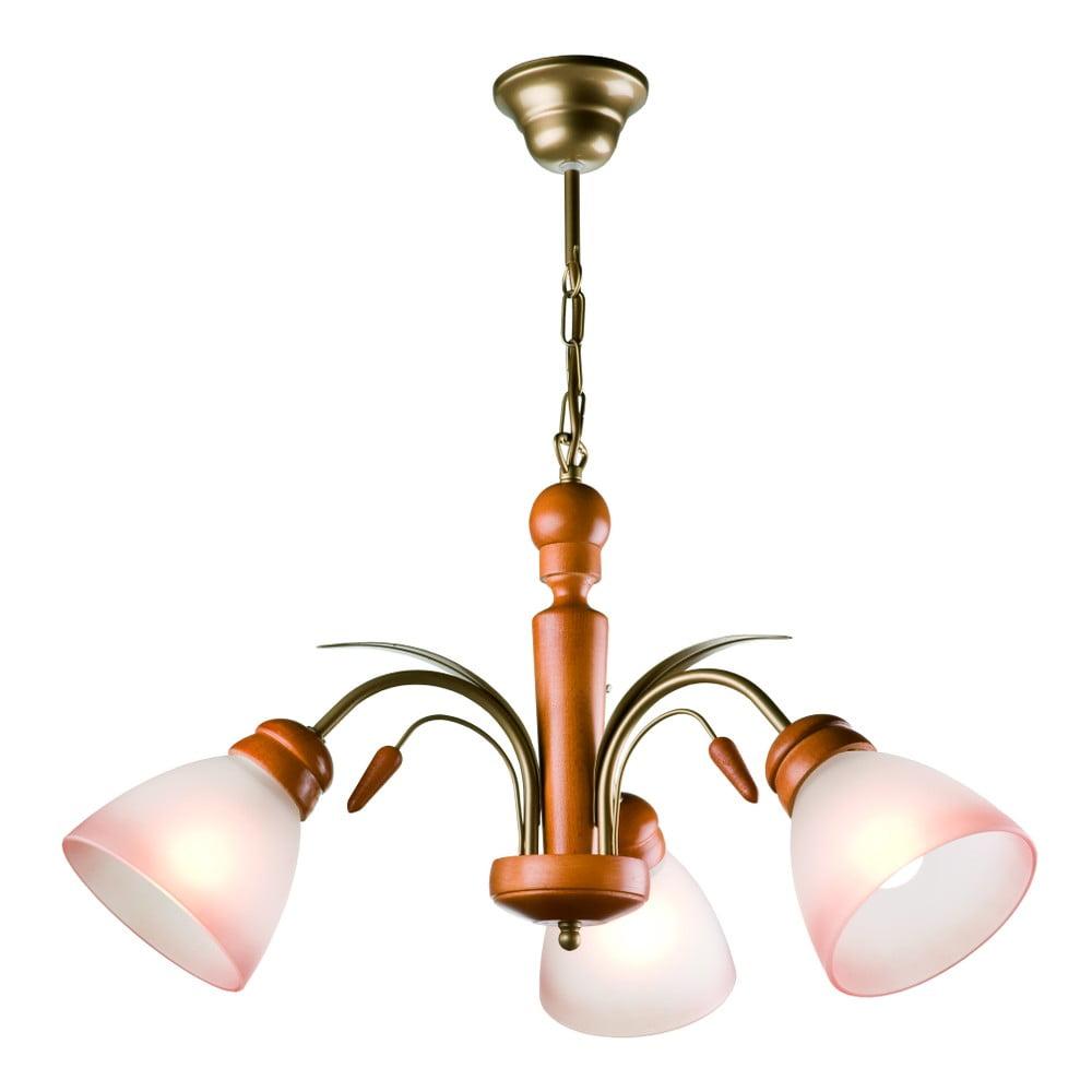 Závesné svietidlo pre 3 žiarovky Lamkur Tulipan