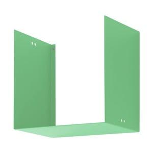 Nástenná polica Geometric One, zelená