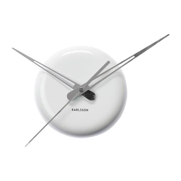 Biele nástenné hodiny Present Time Ceramic Dot