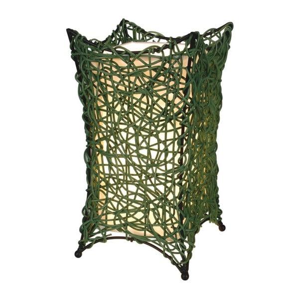 Zelená stolová lampa Naeve Korbchen