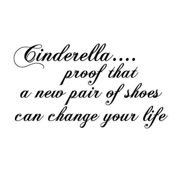 Dekoratívna nástenná samolepka Cinderella
