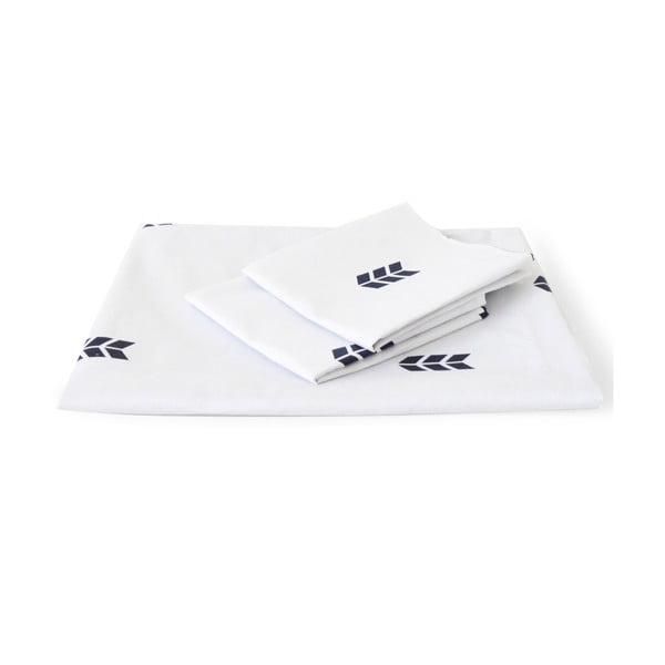 Biele obliečky Hawke&Thorn Finch Straw, 240 x 220 cm + vankúš 50 x 60 cm