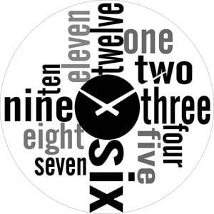 Sklenené hodiny Čísla, 38 cm
