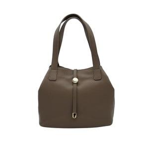 Tmavosivobéžová kabelka z pravej kože Andrea Cardone Matteo