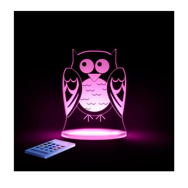 Detské LED nočné svetielko Aloka Owl