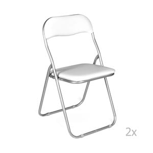 Sada 2 bielych skladacích stoličiek Evergreen Hous Viola
