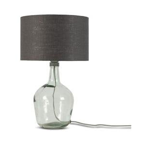 Stolová lampa s tmavosivým tienidlom a konštrukciou z recyklovaného skla Good&Mojo Murano, ⌀ 30 cm