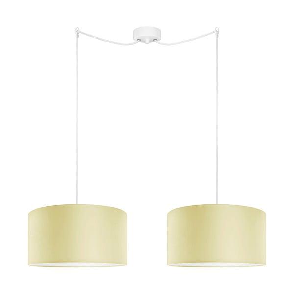 Žlté dvojité závesné svietidlo Bulb Attack Tres, ⌀ 36 cm