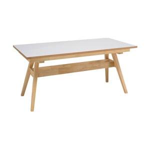 Biely jedálenský stôl snohami zdubového dreva sømcasa Abbie, 150x90cm