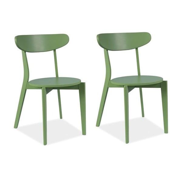 Sada 2 jedálenských stoličiek Coral Green