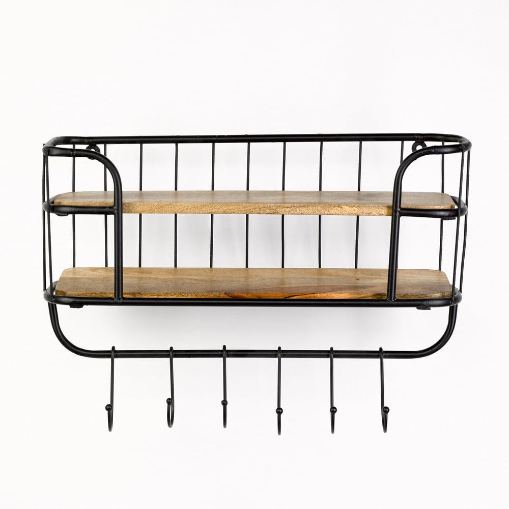 Nástenný vešiak s kovovou konštrukciou Simla Rack