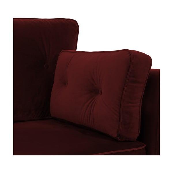 Tmavočervená pohovka pre troch Vivonita Portobello