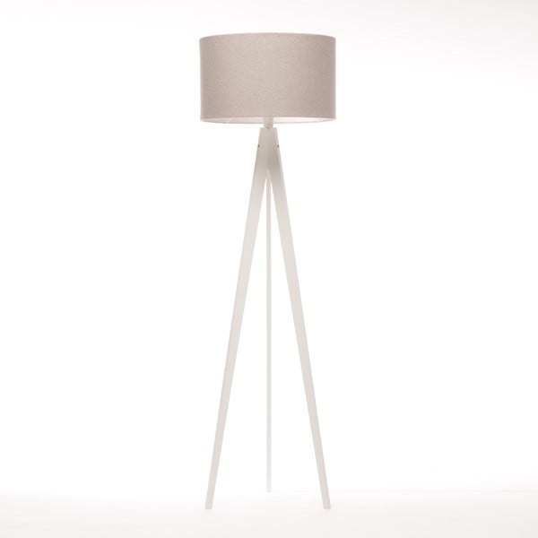 Stojacia lampa Artist Brown Grey Felt/White, 125x42 cm