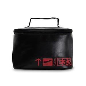 Čierno-červená cestovná kozmetická taška POTIRON Paris