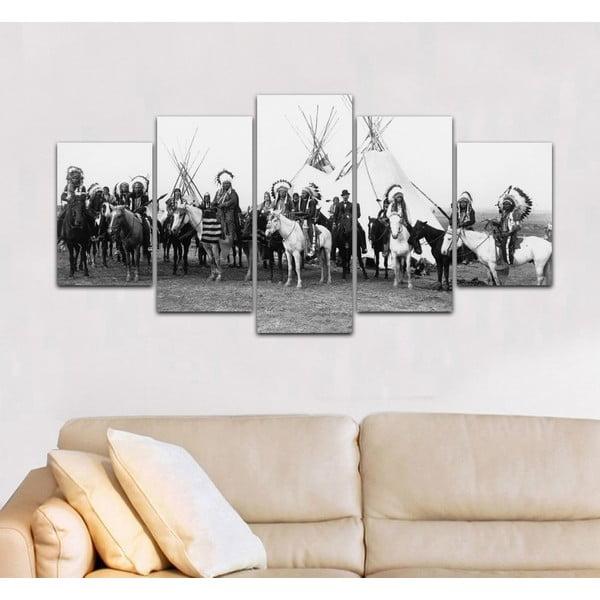 Viacdielny obraz Black&White no. 18, 100x50 cm